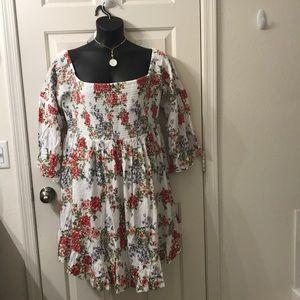 Torrid Bell Sleeve floral dress off the shoulder